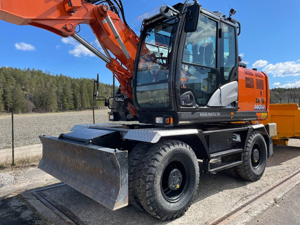 Hitachi ZX 140 WT-6, Wheeled Excavators, Construction Equipment