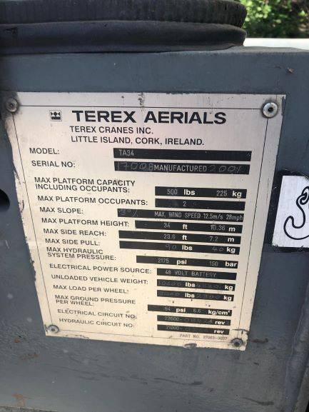 Terex TA34, Articulated boom lifts, Construction Equipment