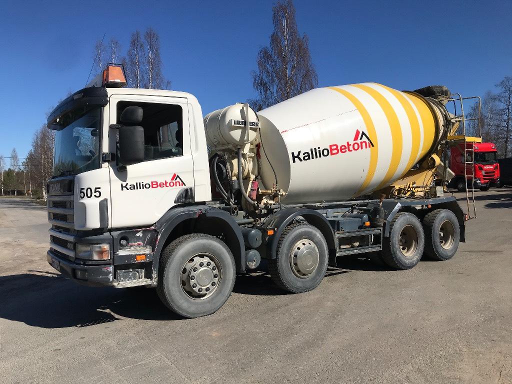 Scania R124 8x4 mikseri, Betonikuorma-autot, Kuljetuskalusto