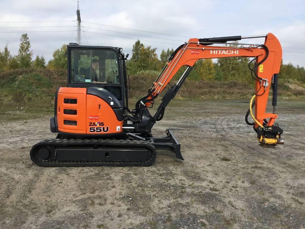 Hitachi ZX55-5A CLR, Mini excavators < 7t (Mini diggers), Construction
