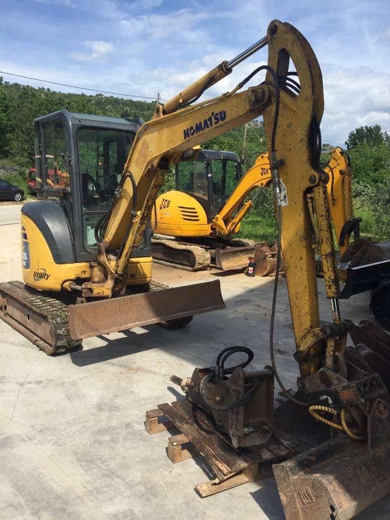 Komatsu PC35MR-2, Mini excavators, Construction Equipment