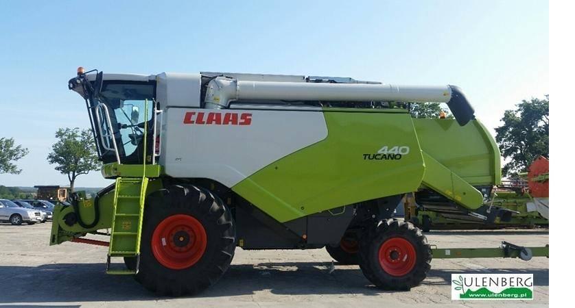 CLAAS TUCANO 440 +VARIO750 +WÓZEK TRANSPORTOWY, Kombajny zbożowe, Maszyny rolnicze