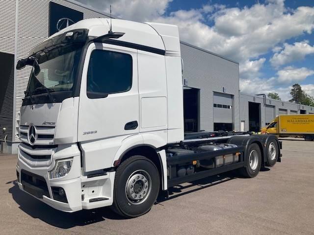 Mercedes-Benz Actros 2553L HIAB Multilift, Lastväxlare/Krokbilar, Transportfordon