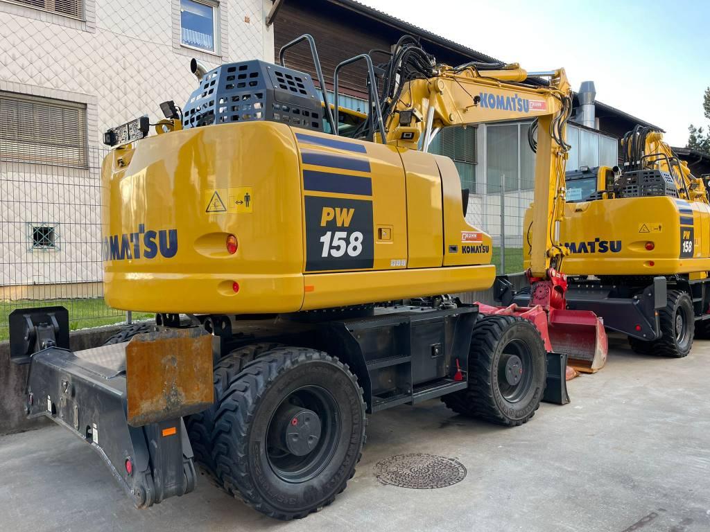 Komatsu PW158-11, Wheeled Excavators, Construction Equipment