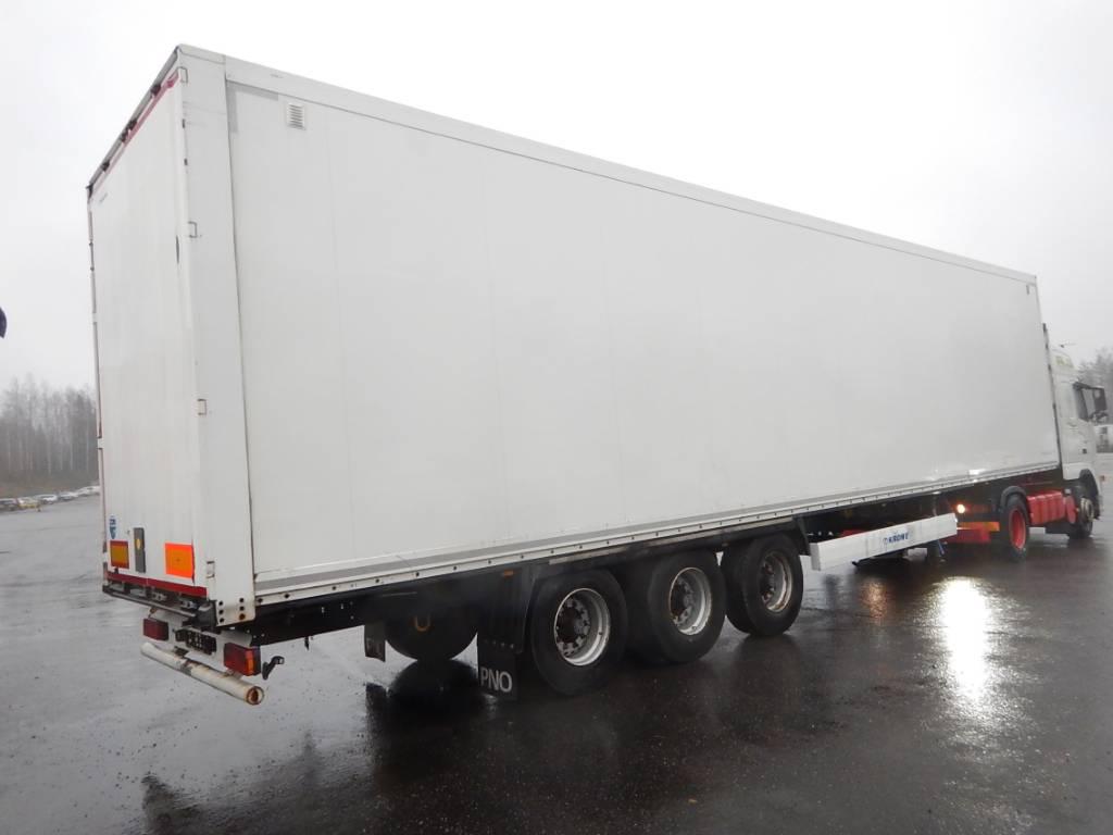 Krone PUTKIPUOLIPERÄVAUNU, 2-TASO LATTIA, DMZ 450, Box body semi-trailers, Transportation