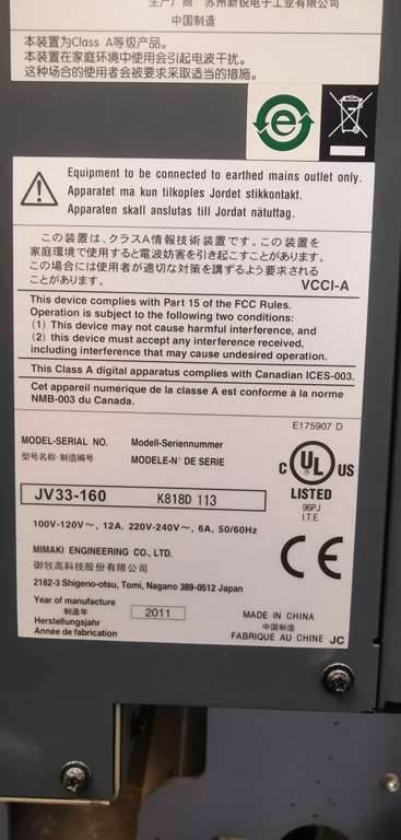 [Other] MIMAKI JV33-160, Wide Format Printers, Altro