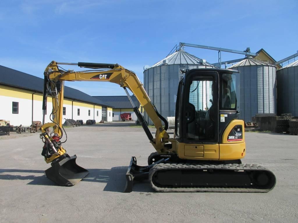 Caterpillar 305C CR grävmaskin, rototilt, Minigrävare < 7t, Entreprenad