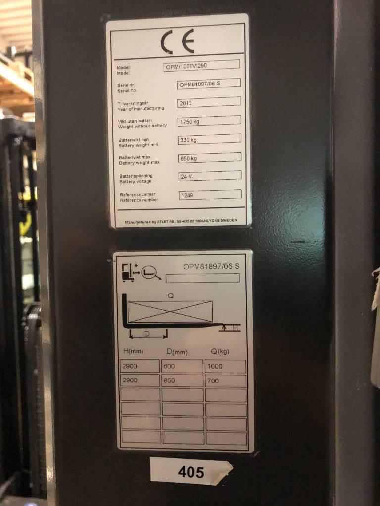 Atlet OPM/100TVI290, Plocktruck, mediumlyftande, Materialhantering
