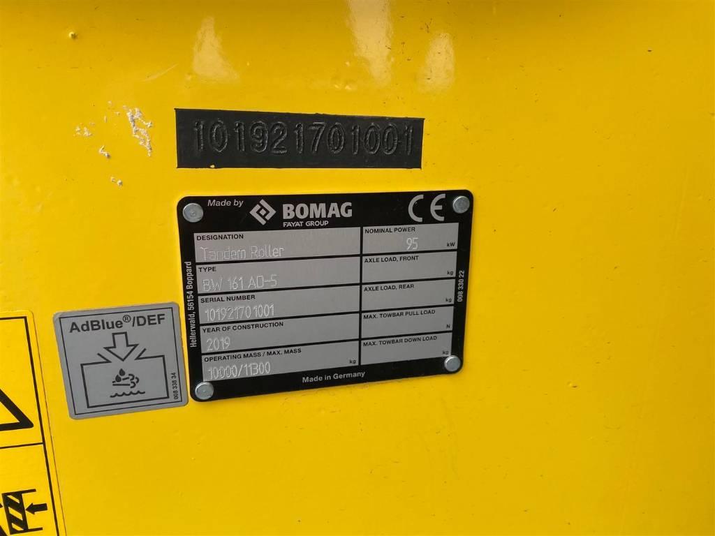 Bomag BW 161 AD-5, Tandemwalzen, Baumaschinen
