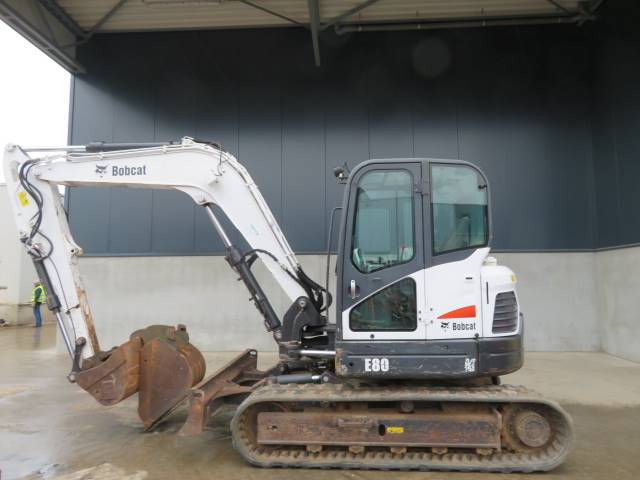 Bobcat E 80, Midi excavators  7t - 12t, Construction