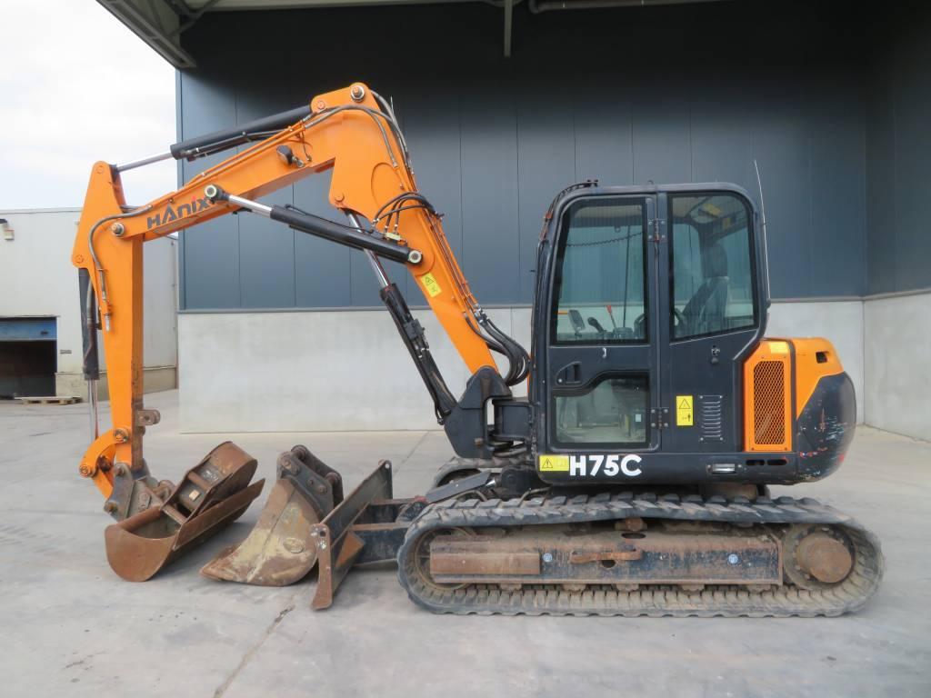Hanix H 75 C, Midigraafmachines 7t - 12t, Bouw
