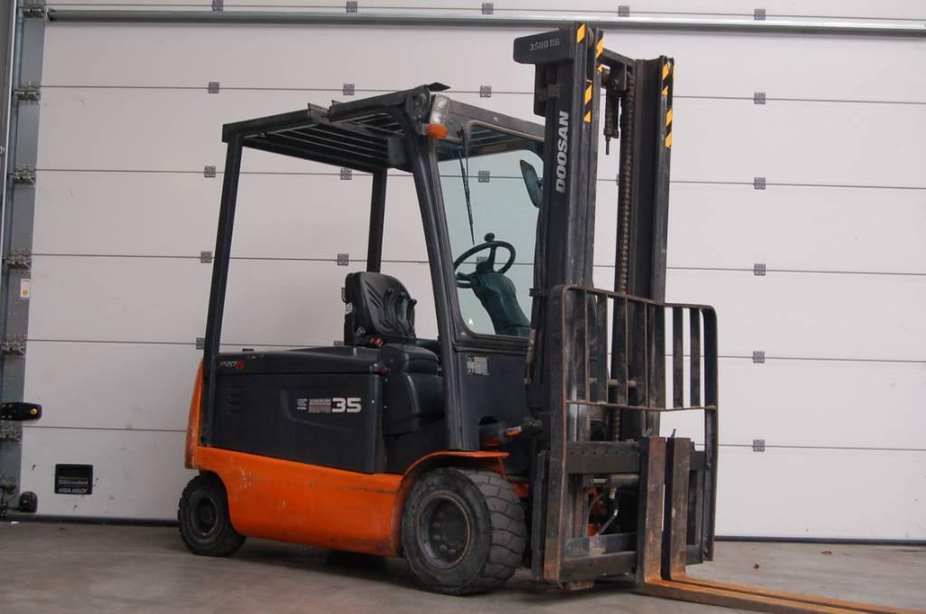 Doosan B35X-5, Elektrische heftrucks, Laden en lossen