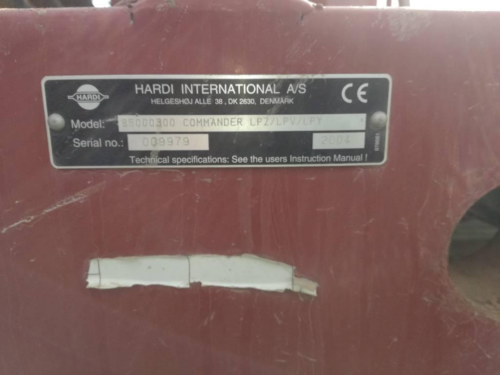 Hardi Commander 3200, Haagispritsid, Põllumajandus