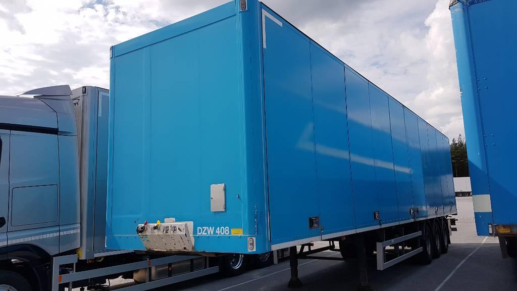 Ekeri kappaletavarapuoliperävaunu, Europa mitat, DZW 408, Box body semi-trailers, Transportation