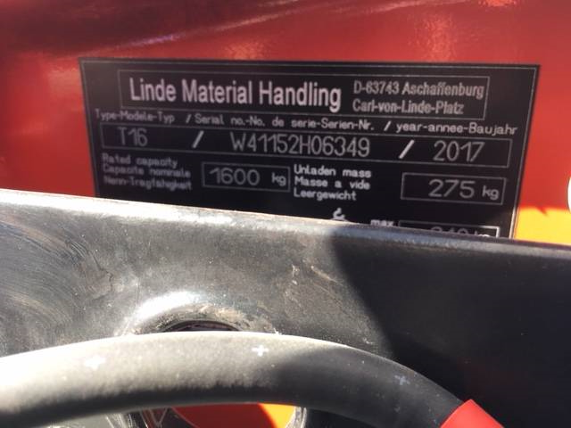 Linde T16/1152, Low lifter, Material Handling