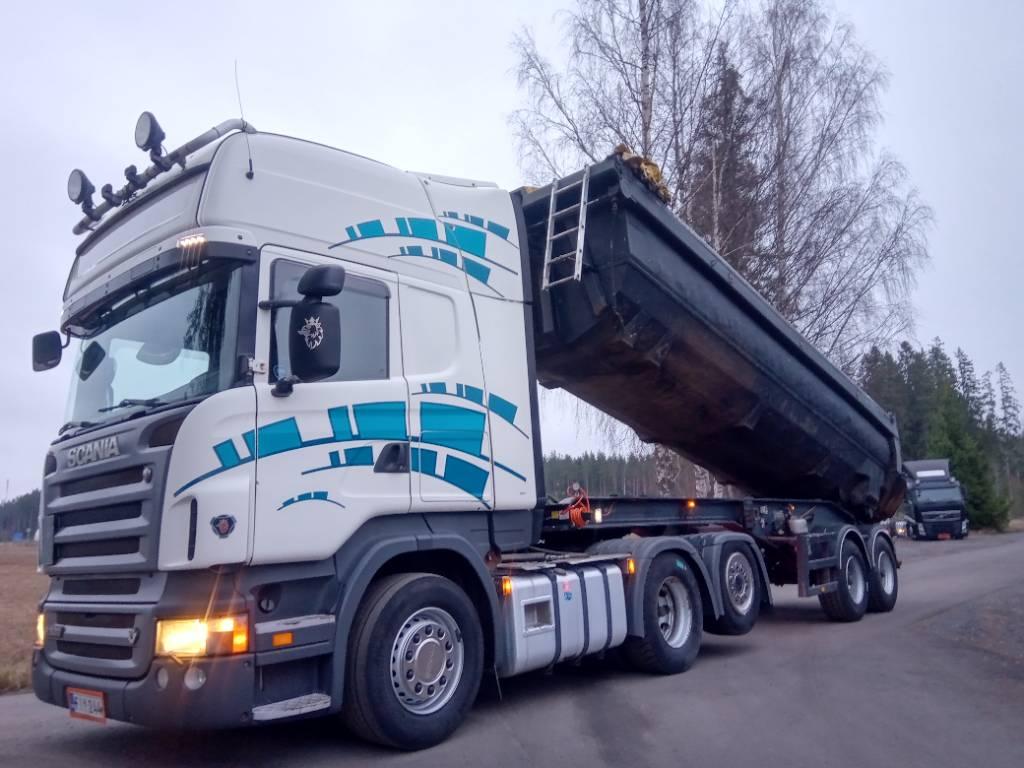 Scania R500 6x2 + 2 aks. kippikärryä, Vetopöytäautot, Kuljetuskalusto