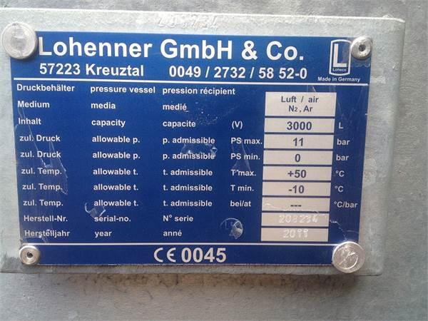 Air receiver 3000L - 11bar(e), Compressor accessories, Industrial