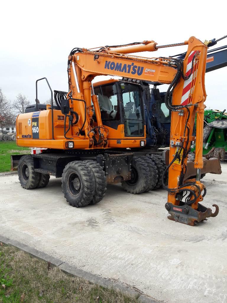 Komatsu PW160-7, Wheeled Excavators, Construction Equipment
