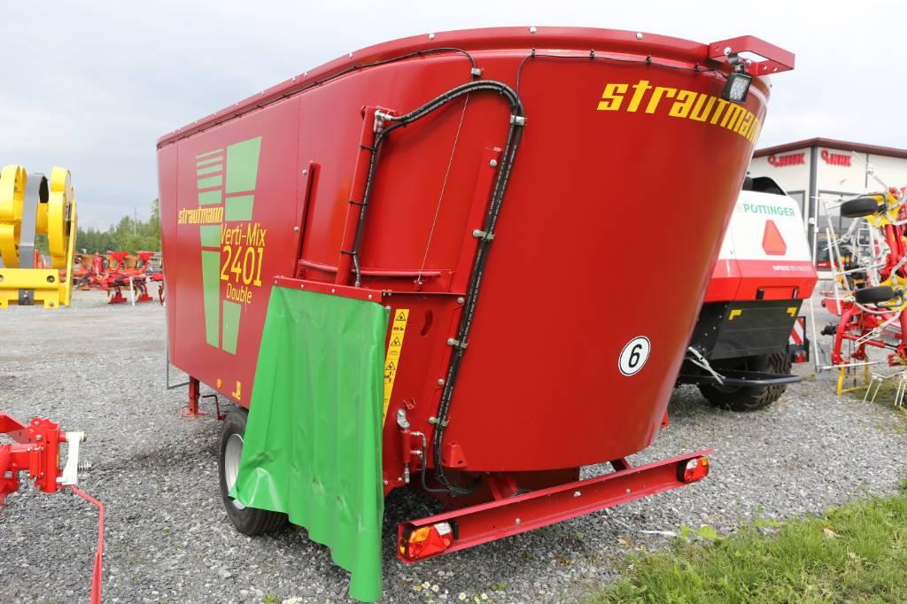 Strautmann Vertimix 2401 Double seosrehuvaunu, Karjan ruokintalaitteet, Maatalous