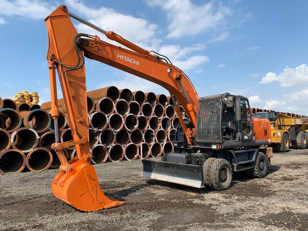 Hitachi ZX210W-3, Wheeled Excavators, Construction