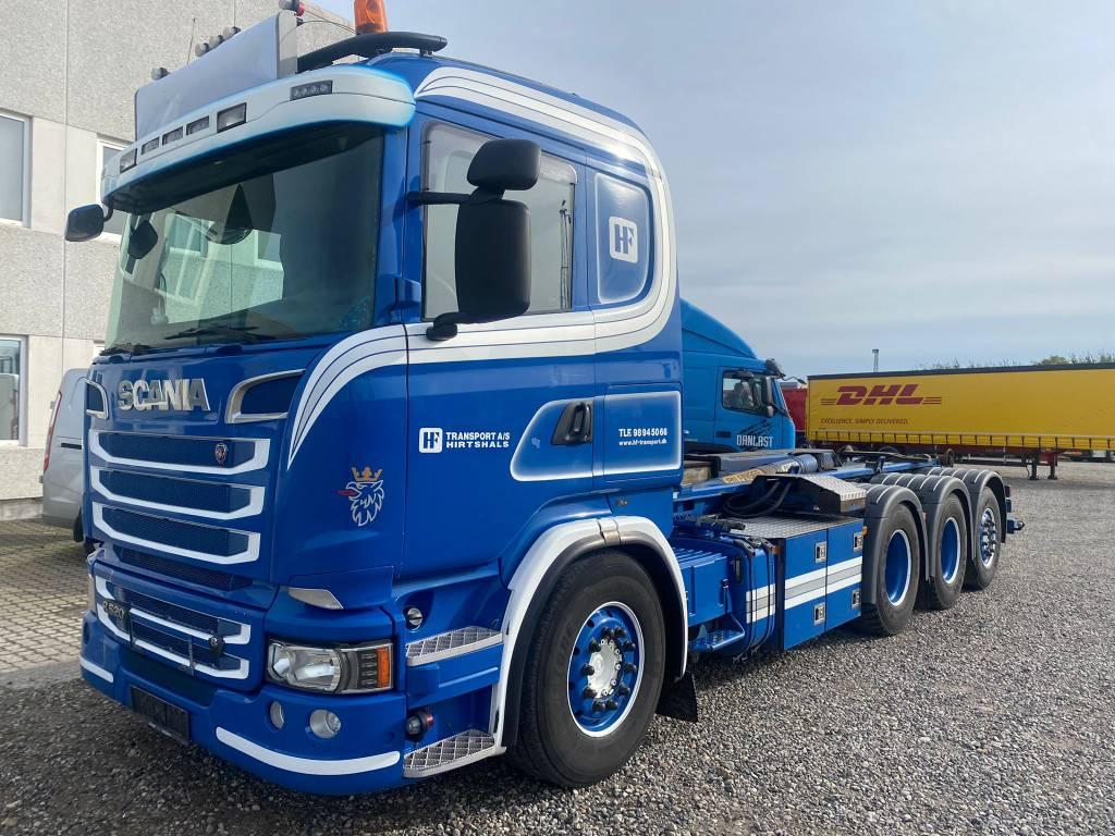 Scania R520 8x4 Palift liuku taitto koukkulaite, Koukkulava kuorma-autot, Kuljetuskalusto