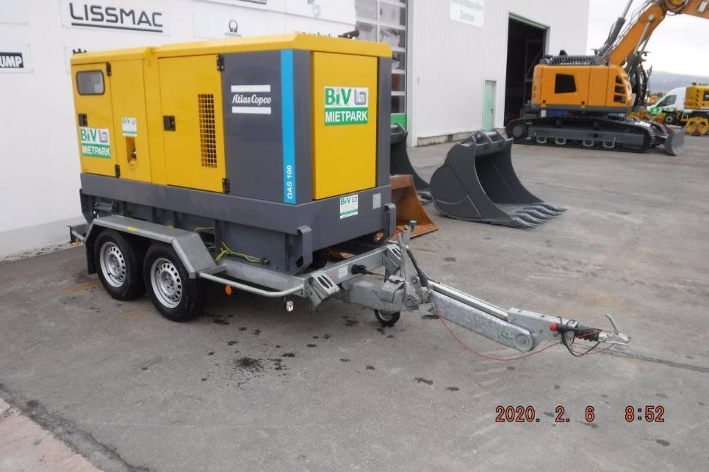 Atlas Copco QAS 100, Diesel Generatoren, Baumaschinen