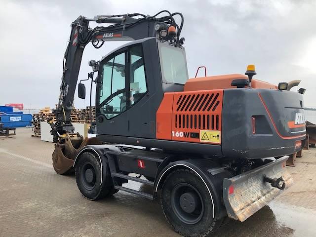 Atlas 160W, Wheeled Excavators, Construction Equipment