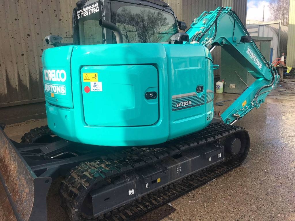 Kobelco SK75, Midi excavators  7t - 12t, Construction