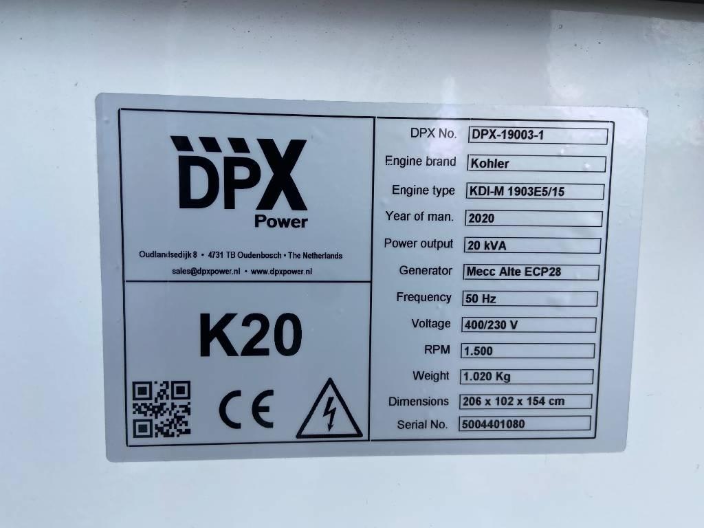 Kohler KDI1903M - 20 kVA Stage V - DPX-19003, Diesel generatoren, Bouw