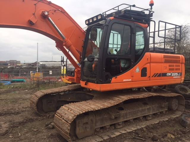 Doosan DX 225 LC-3, Crawler excavators, Construction