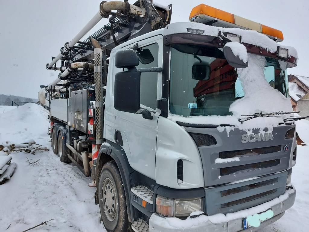 Scania Pompa CIFA, Gruszki do betonu, Transport