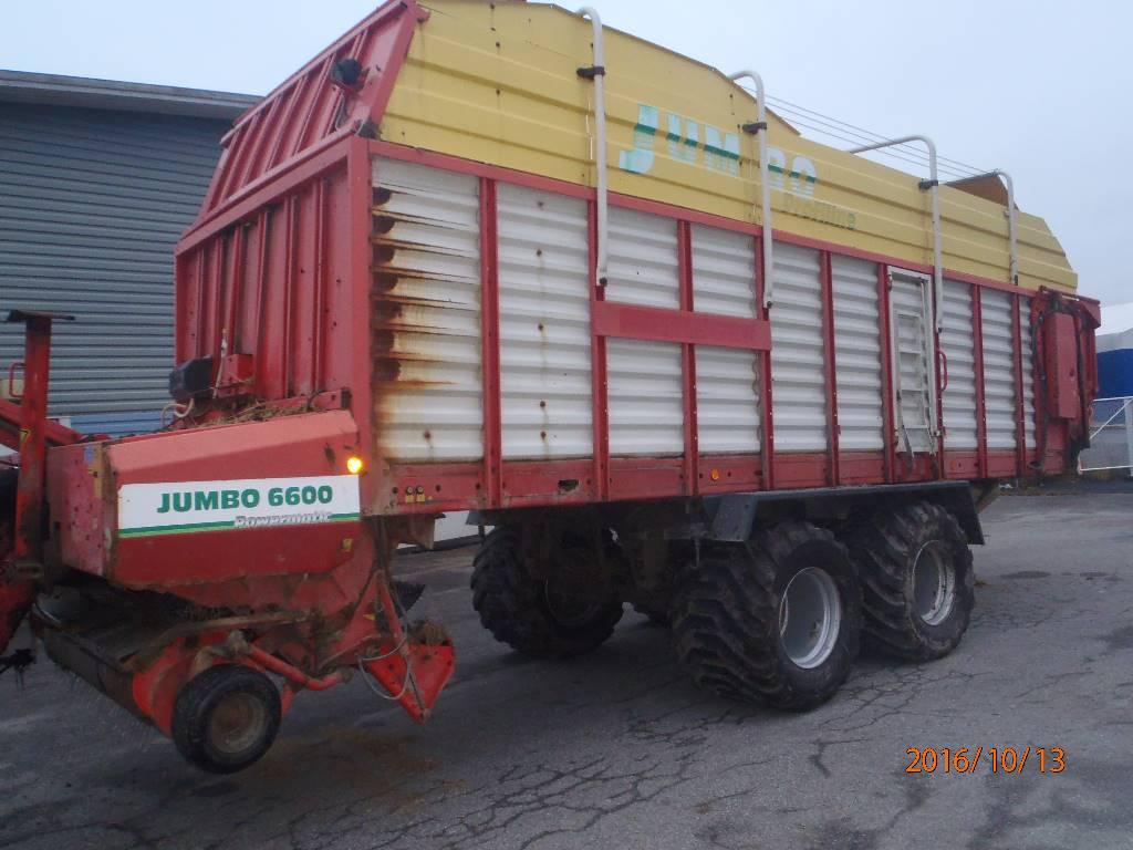 Pöttinger Jumbo 6600 Profiline, Keräävät noukinvaunut ja silppurivaunut, Maatalous
