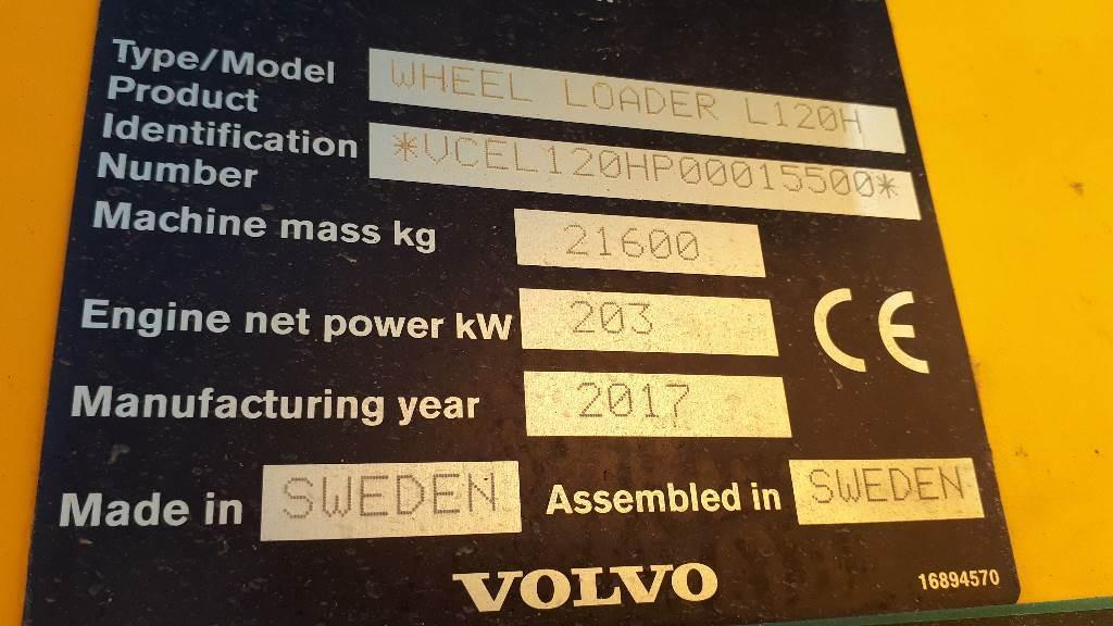 Volvo L 120 H, Cargadoras sobre ruedas, Construcción