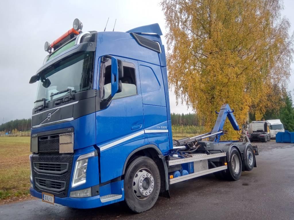 Volvo FH500 av4300mm Multilift XR koukkulaite, Koukkulava kuorma-autot, Kuljetuskalusto