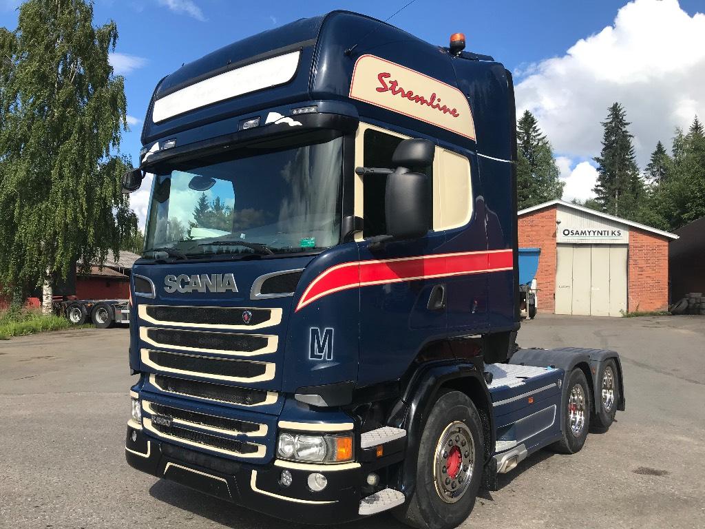Scania R520 kippihydrauliikalla 6x2, Vetopöytäautot, Kuljetuskalusto