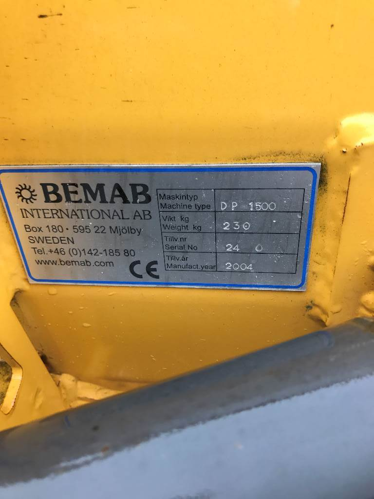 Bemab DP 1500, Plogar, Entreprenad