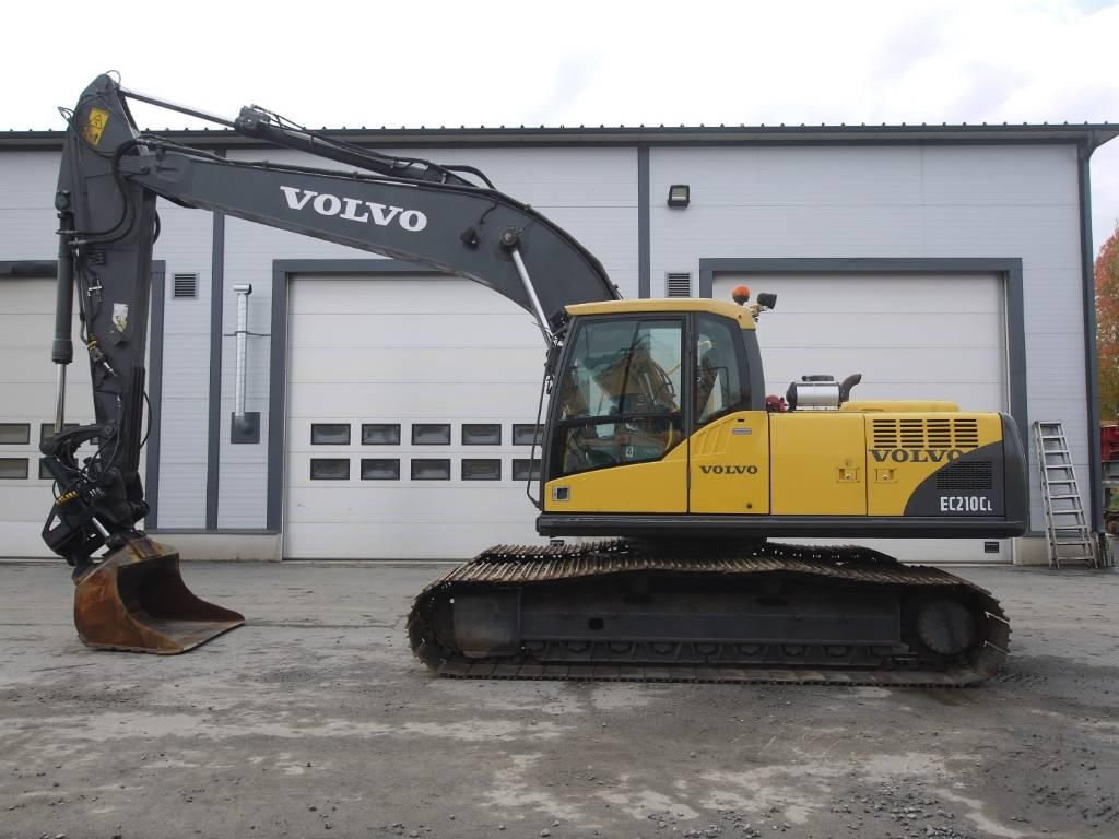 Volvo EC 210 CL, 1000mm laput, kallistuva kauha, Telakaivukoneet, Maarakennus