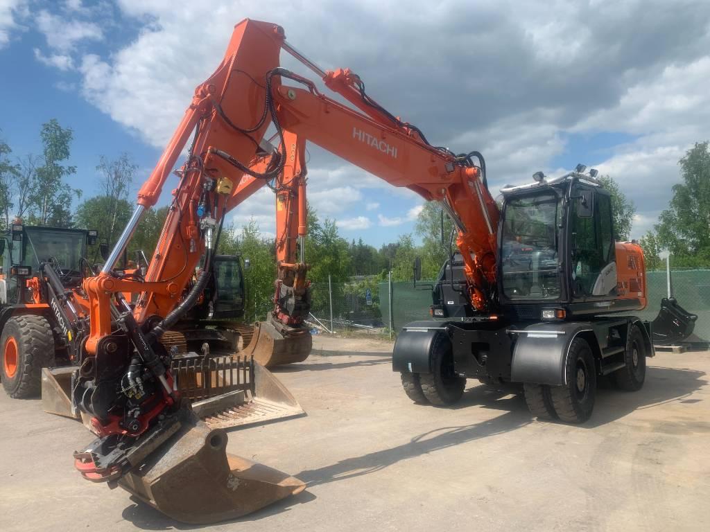 Hitachi // Arlandastad ZX 140 W-5, Hjulgrävare, Entreprenad