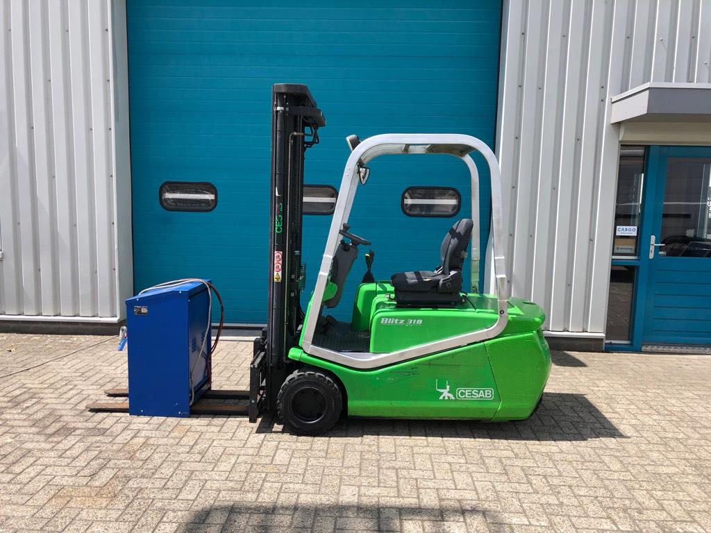 Cesab Blitz 318, Heftruck 1800 kg. elektro, Elektrische heftrucks, Laden en lossen