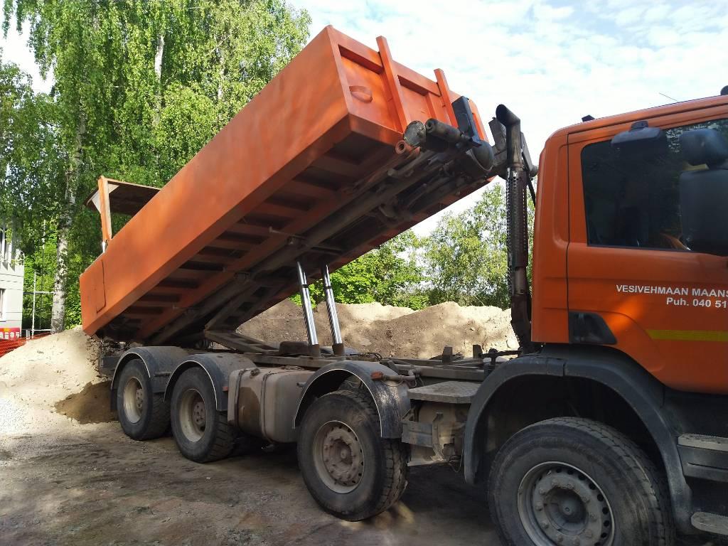 Scania P420 8x4, Vaihtolava-autot, Kuljetuskalusto