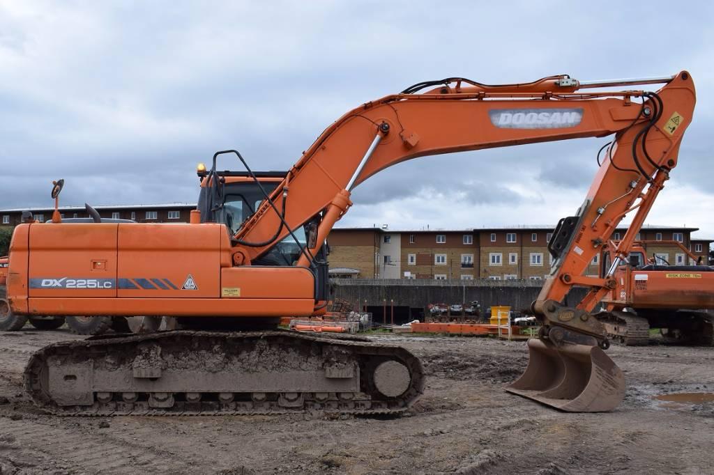 Doosan DX 225 LC, Crawler excavators, Construction