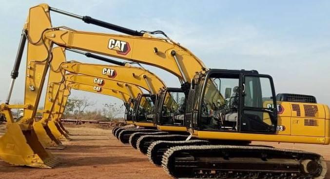 Caterpillar 323 D3 (6 pieces), Crawler excavators, Construction