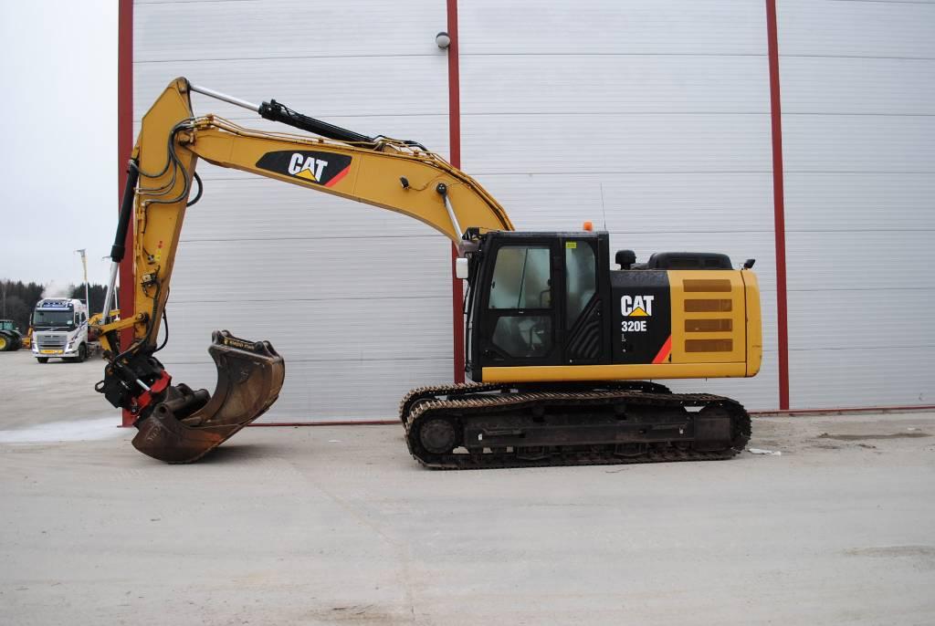 Caterpillar 320E, Rupsgraafmachines, Bouw