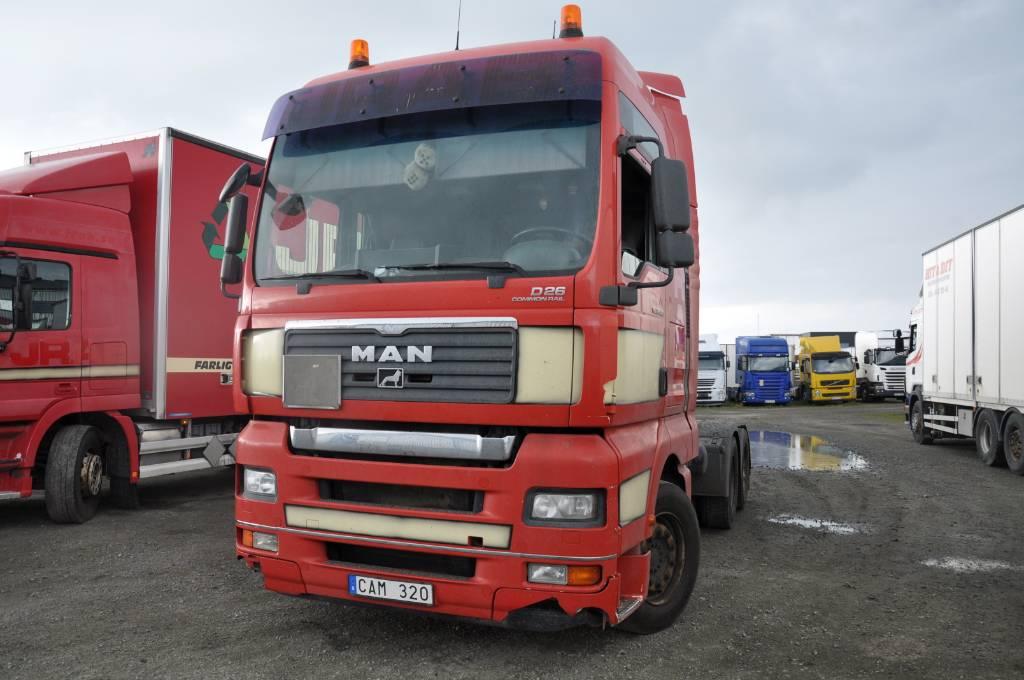 MAN TGA 26.480 6x4, Dragbilar, Transportfordon