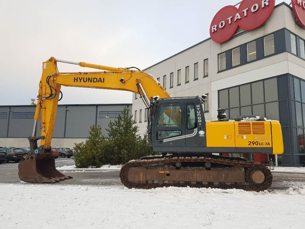 Hyundai ROBEX 290LC-7, Telakaivukoneet, Maarakennus