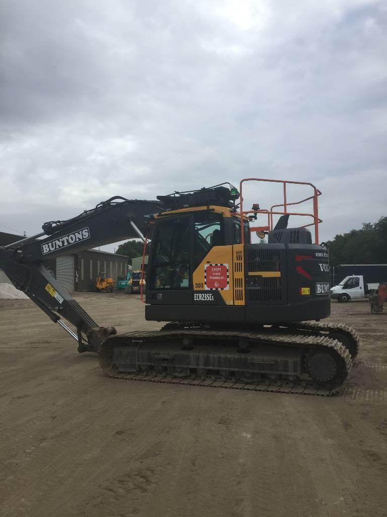 Volvo ECR 235, Crawler excavators, Construction