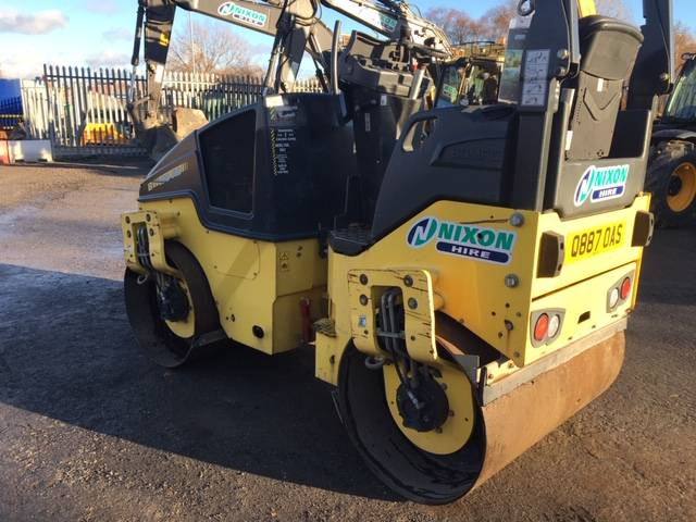 Bomag BW 120 AD-5, Twin drum rollers, Construction