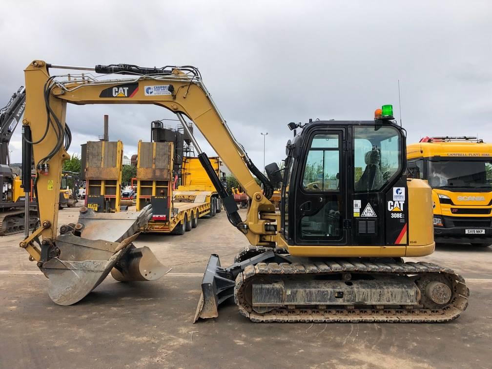 Caterpillar 308E, Midi excavators  7t - 12t, Construction