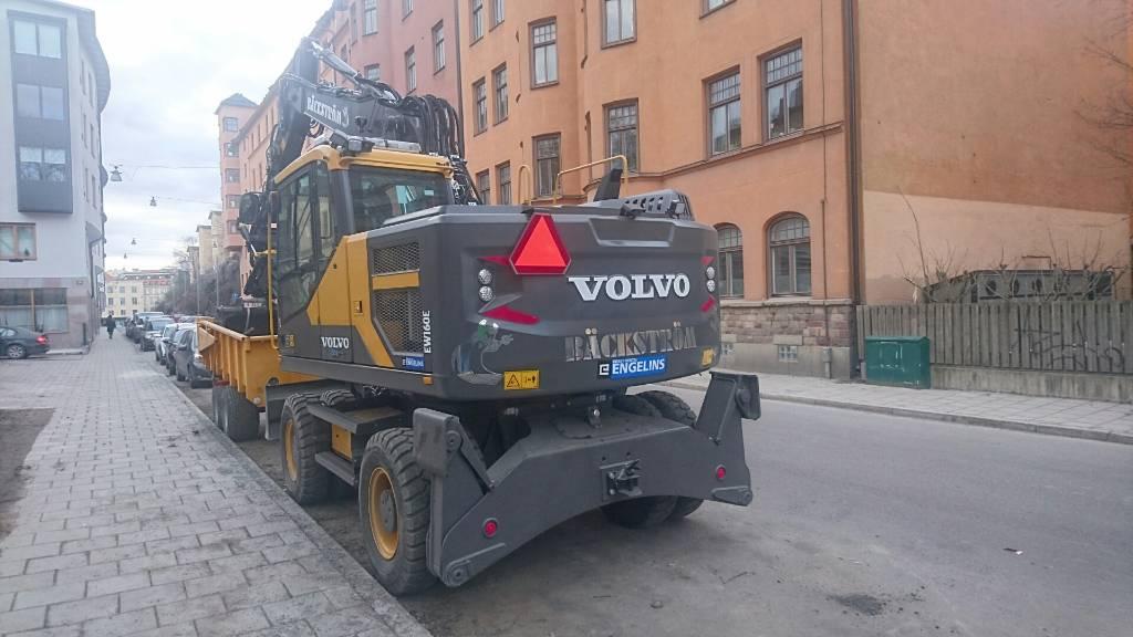 Volvo EW 160 EL, UTHYRES, Hjulgrävare, Entreprenad