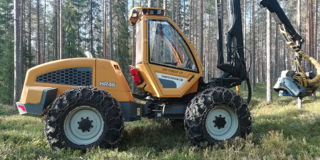 Sampo-Rosenlew HR 46, Harvesterit, Metsäkoneet
